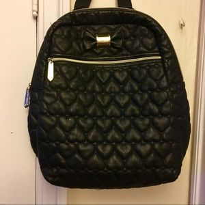 Betsey Johnson quilted heart backpack